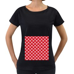 Diamond Pattern Women s Loose Fit T Shirt (black)