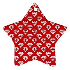 Diamond Pattern Star Ornament (Two Sides)