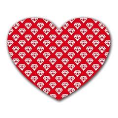 Diamond Pattern Heart Mousepads