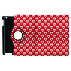 Diamond Pattern Apple iPad 2 Flip 360 Case