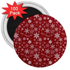 Merry Christmas Pattern 3  Magnets (100 Pack)
