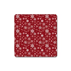 Merry Christmas Pattern Square Magnet