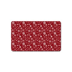 Merry Christmas Pattern Magnet (Name Card)