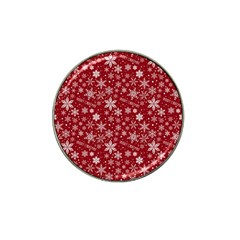 Merry Christmas Pattern Hat Clip Ball Marker (10 Pack)