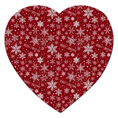 Merry Christmas Pattern Jigsaw Puzzle (heart)
