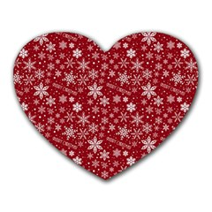 Merry Christmas Pattern Heart Mousepads