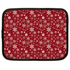Merry Christmas Pattern Netbook Case (Large)