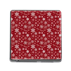 Merry Christmas Pattern Memory Card Reader (Square)
