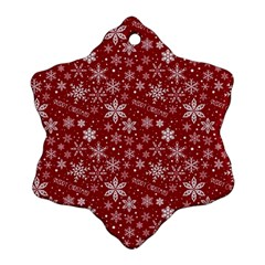 Merry Christmas Pattern Snowflake Ornament (two Sides)