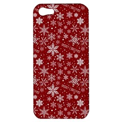 Merry Christmas Pattern Apple Iphone 5 Hardshell Case