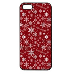 Merry Christmas Pattern Apple Iphone 5 Seamless Case (black)