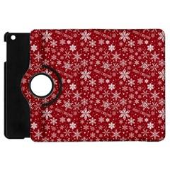 Merry Christmas Pattern Apple iPad Mini Flip 360 Case