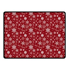 Merry Christmas Pattern Double Sided Fleece Blanket (small)