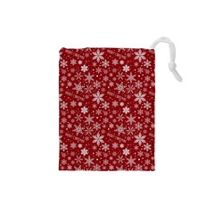 Merry Christmas Pattern Drawstring Pouches (small)