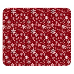 Merry Christmas Pattern Double Sided Flano Blanket (small)