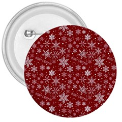 Merry Christmas Pattern 3  Buttons