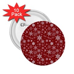 Merry Christmas Pattern 2 25  Buttons (10 Pack)