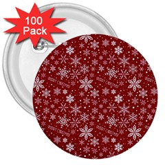 Merry Christmas Pattern 3  Buttons (100 Pack)
