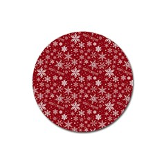Merry Christmas Pattern Magnet 3  (round)