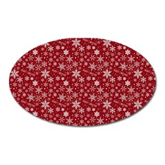 Merry Christmas Pattern Oval Magnet