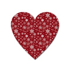 Merry Christmas Pattern Heart Magnet