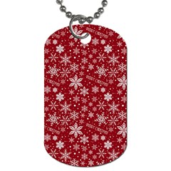 Merry Christmas Pattern Dog Tag (one Side)