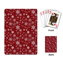 Merry Christmas Pattern Playing Card