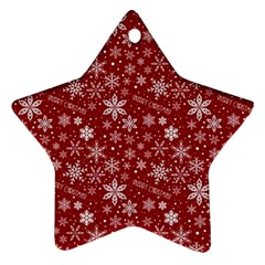 Merry Christmas Pattern Star Ornament (Two Sides)