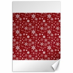 Merry Christmas Pattern Canvas 12  X 18