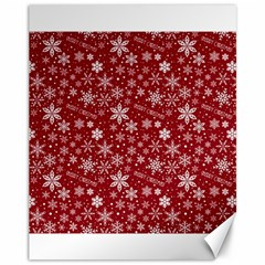Merry Christmas Pattern Canvas 11  X 14