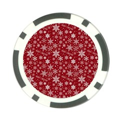 Merry Christmas Pattern Poker Chip Card Guard (10 pack)