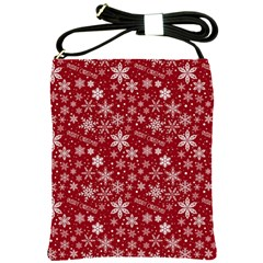 Merry Christmas Pattern Shoulder Sling Bags
