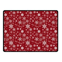 Merry Christmas Pattern Fleece Blanket (small)