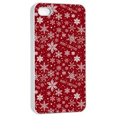 Merry Christmas Pattern Apple iPhone 4/4s Seamless Case (White)
