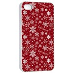 Merry Christmas Pattern Apple iPhone 4/4s Seamless Case (White) Front