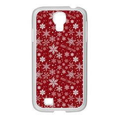 Merry Christmas Pattern Samsung Galaxy S4 I9500/ I9505 Case (white)
