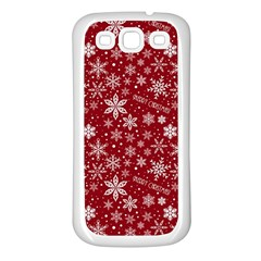 Merry Christmas Pattern Samsung Galaxy S3 Back Case (white)