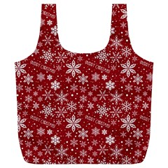 Merry Christmas Pattern Full Print Recycle Bags (l)