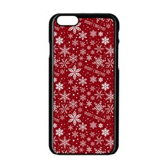 Merry Christmas Pattern Apple iPhone 6/6S Black Enamel Case