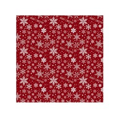 Merry Christmas Pattern Small Satin Scarf (square)