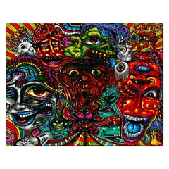 Abstract Psychedelic Face Nightmare Eyes Font Horror Fantasy Artwork Rectangular Jigsaw Puzzl