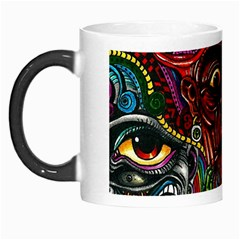 Abstract Psychedelic Face Nightmare Eyes Font Horror Fantasy Artwork Morph Mugs