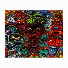 Abstract Psychedelic Face Nightmare Eyes Font Horror Fantasy Artwork Small Glasses Cloth