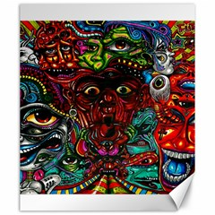 Abstract Psychedelic Face Nightmare Eyes Font Horror Fantasy Artwork Canvas 20  X 24