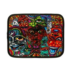Abstract Psychedelic Face Nightmare Eyes Font Horror Fantasy Artwork Netbook Case (Small)
