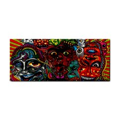 Abstract Psychedelic Face Nightmare Eyes Font Horror Fantasy Artwork Cosmetic Storage Cases
