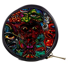 Abstract Psychedelic Face Nightmare Eyes Font Horror Fantasy Artwork Mini Makeup Bags