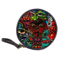 Abstract Psychedelic Face Nightmare Eyes Font Horror Fantasy Artwork Classic 20-CD Wallets