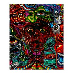 Abstract Psychedelic Face Nightmare Eyes Font Horror Fantasy Artwork Shower Curtain 60  X 72  (medium)