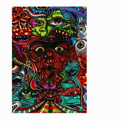 Abstract Psychedelic Face Nightmare Eyes Font Horror Fantasy Artwork Large Garden Flag (two Sides)